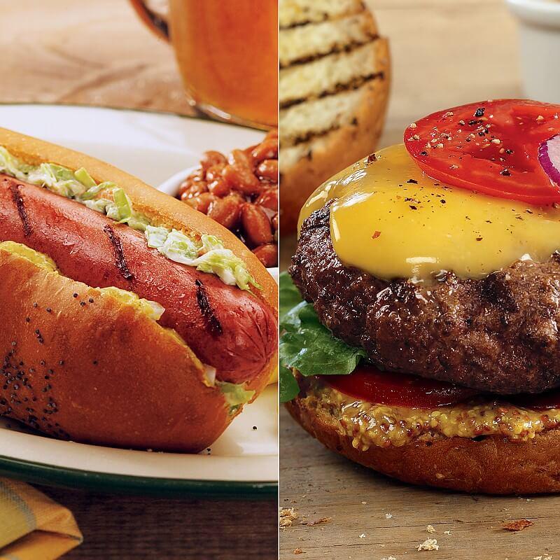 Steakburger and Hot Dog Combo: Hamburgers & Franks : Kansas City Steaks