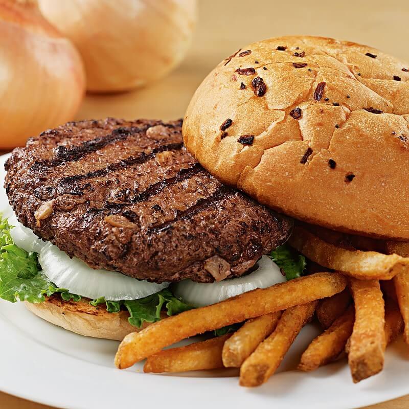 Sweet Vidalia Onion Steakburgers Steak Burgers Kansas